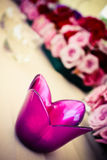 Flower candle holder Stock Photo