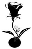 Flower candle. Vectorized candle in shape of flower Stock Image