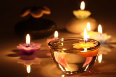 Flower candles Stock Images