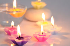 Flower candles Royalty Free Stock Image