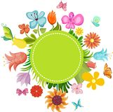 Flower card Royalty Free Stock Photos