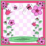 Flower card Royalty Free Stock Image