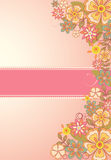 Flower card. Vector illustration of flower card, Spring time Stock Photos