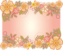 Flower card. Vector illustration of Spring flower card for special occasions Stock Photography