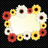 Flower card. Vector background with flowers and place for text Stock Photo