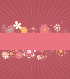 Flower card. Vector illustration of flower card for special occasions Royalty Free Stock Images