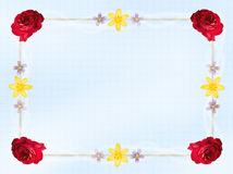 Flower Card Border Stock Photo