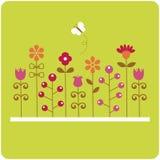 Flower card design Stock Photography