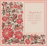Flower card design. Royalty Free Stock Images