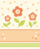 Flower card design. With places for text Royalty Free Stock Image