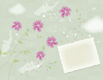 Flower card design Royalty Free Stock Photography