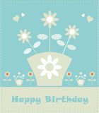 Flower card design fake paper Stock Image
