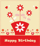 Flower card design fake paper Royalty Free Stock Images