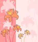 Flower card design Royalty Free Stock Image