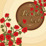 Flower card, flower bouquet of roses, cover Stock Photos