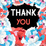 Flower card with gratitude Royalty Free Stock Photo