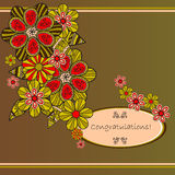 Flower card Royalty Free Stock Images