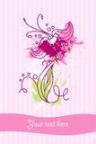 Flower card new 7 Stock Image