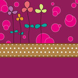 Flower card pattern design Royalty Free Stock Photo