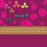 Flower card pattern design Royalty Free Stock Photo