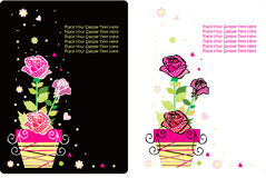 Flower card set Stock Photo