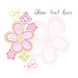 Flower card with space for text Stock Images