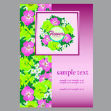 Flower card space for your text for business needs Royalty Free Stock Images