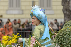 Flower Carnival in Nice, France Royalty Free Stock Images