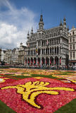 Flower carpet in Brussels 2010 - Brussels symbol Stock Photos