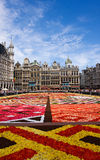 Flower carpet in Brussels Stock Images