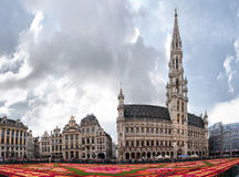 Flower carpet in Brussels, Belgium Royalty Free Stock Photos
