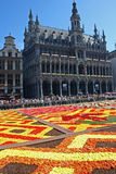 Flower carpet in Brussels Royalty Free Stock Photography
