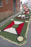 Flower carpet, Galicia, Spain Royalty Free Stock Photos