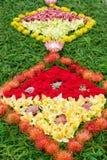 Flower carpet. Part of the flower carpet on Madeira Flower Festival (Festa da Flor). Royalty Free Stock Photo