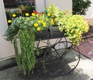 Flower Cart. This charming flower cart was sitting outside of an Italian restaurant Royalty Free Stock Photos