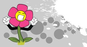 Flower cartoon funny background2 Stock Images