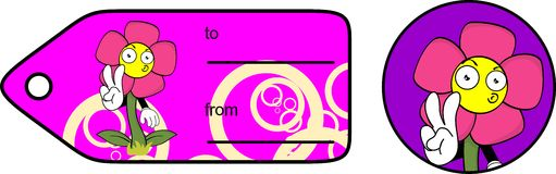Flower cartoon giftcard sticker8 Royalty Free Stock Photography