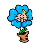 Flower Cartoon parody Stock Images