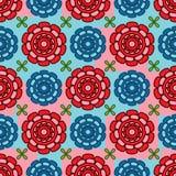 Flower cartoon ten petal symmetry seamless pattern Royalty Free Stock Images