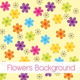 Flower cartoons background Royalty Free Stock Photo
