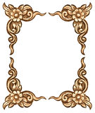 Flower carved frame Royalty Free Stock Photos