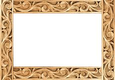 Flower carved frame Royalty Free Stock Images