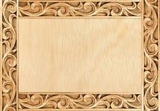 Flower carved frame Stock Images