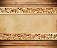 Flower carved frame Stock Image