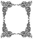 Flower carved frame Royalty Free Stock Photography
