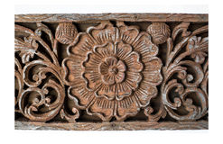 Flower carved pattern Royalty Free Stock Photo