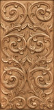Flower carved on wood Royalty Free Stock Photos