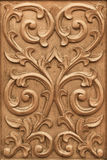 Flower carved on wood Royalty Free Stock Photo