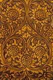 Flower carved on wood Stock Image