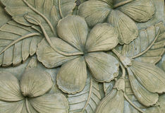 Flower carving decorated Royalty Free Stock Image